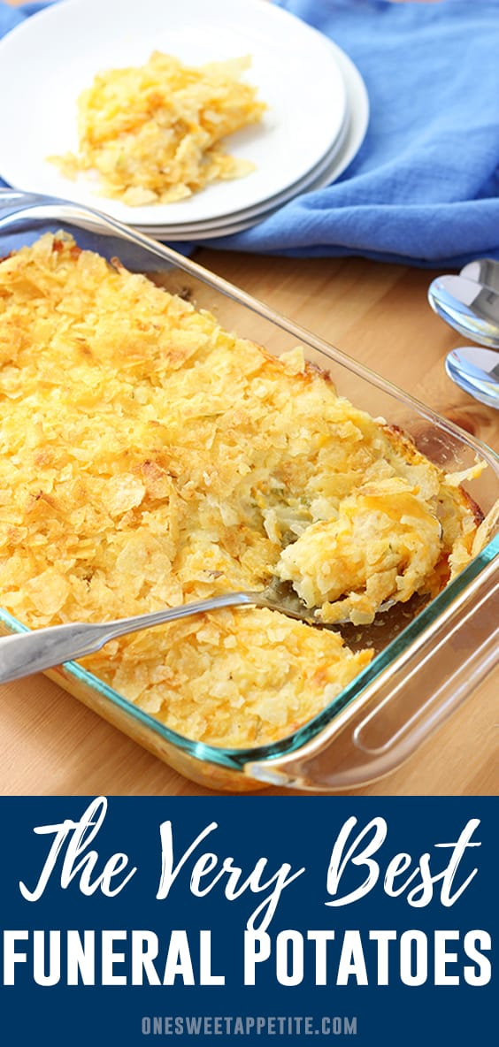 Easy and delicious funeral potatoes, also known as cheesy potatoes, are about to become your go-to side dish recipe! Simple to make, minimal ingredients, and big flavor!