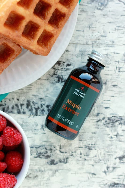 maple extract with waffles