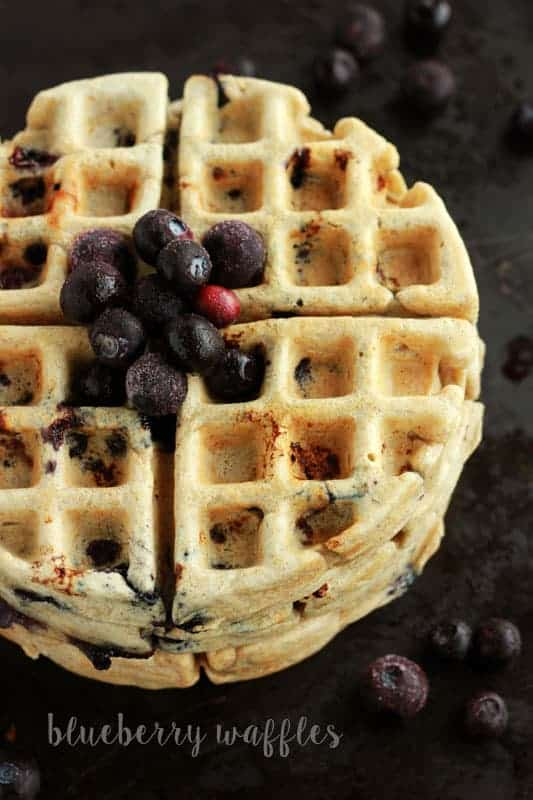 blueberry-waffles