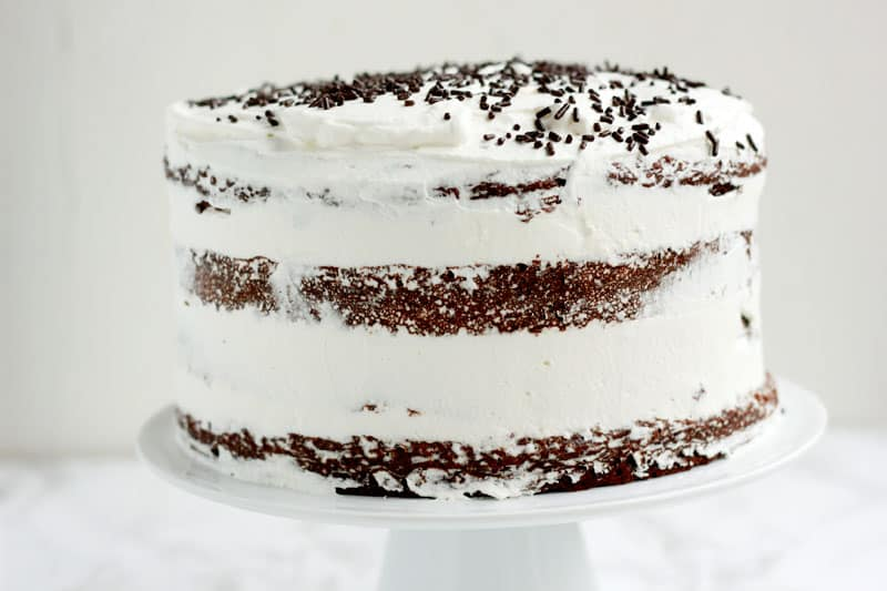 Whipped Cream Chocolate Cake