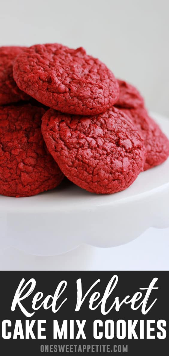 These red velvet cake mix cookies are simple to make and require minimal ingredients (only 4 ingredients)! Perfect on their own or frosted with cream cheese frosting.