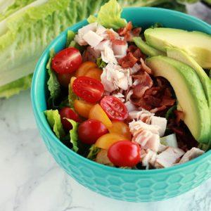Turkey Bacon Avocado Salad
