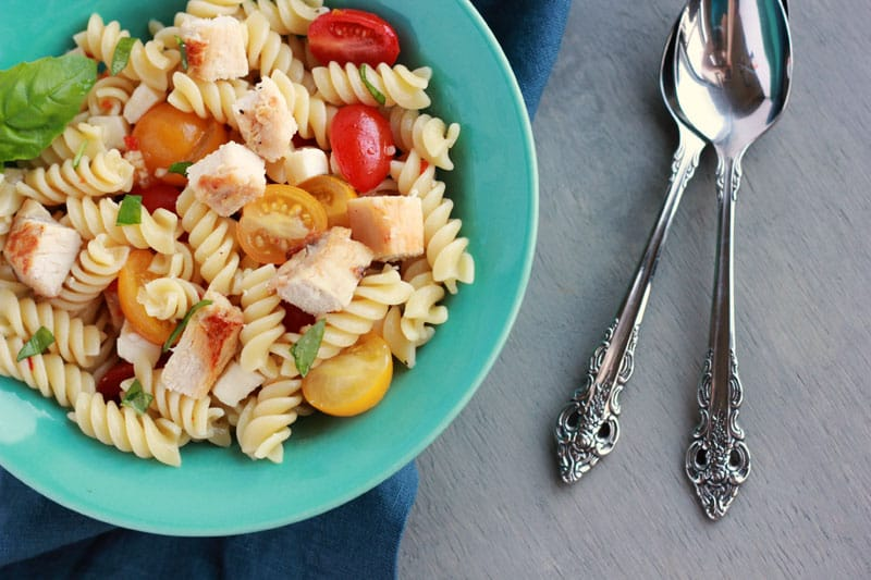 Caprese Pasta Salad with Chicken