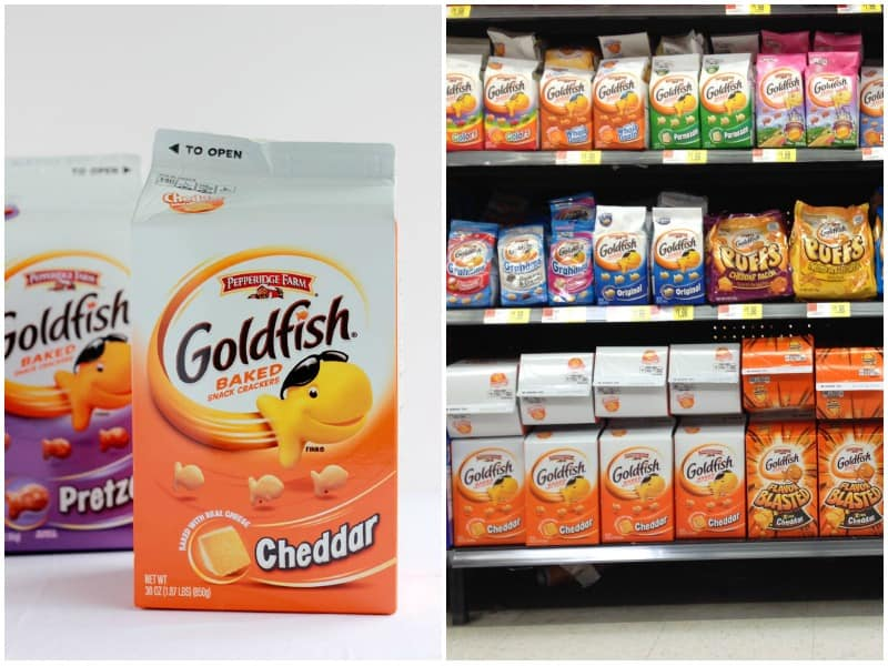 goldfish crackers collage