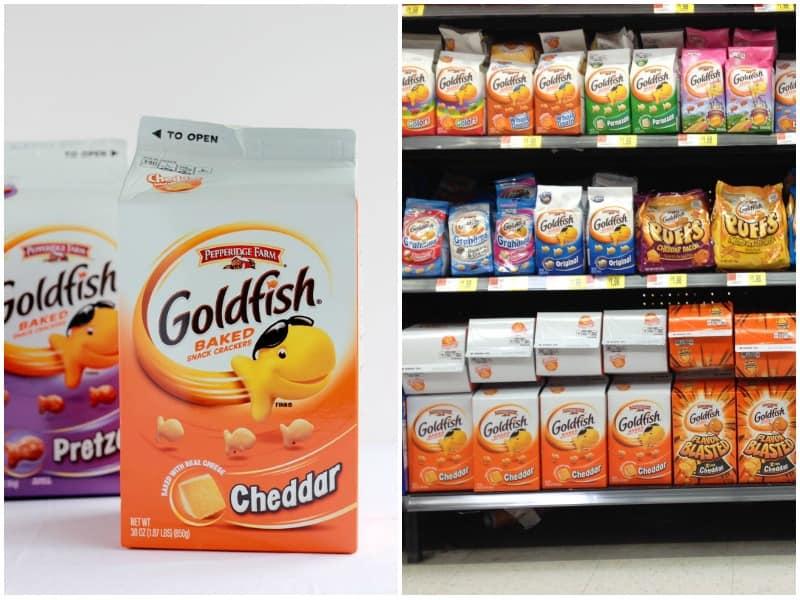 goldfish crackers collage