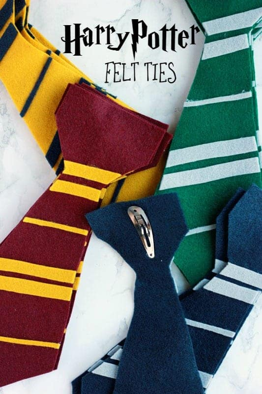 Harry Potter Felt Ties