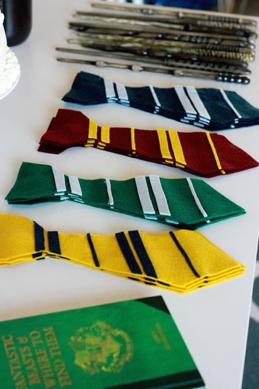 Easy Felt Harry Potter Ties