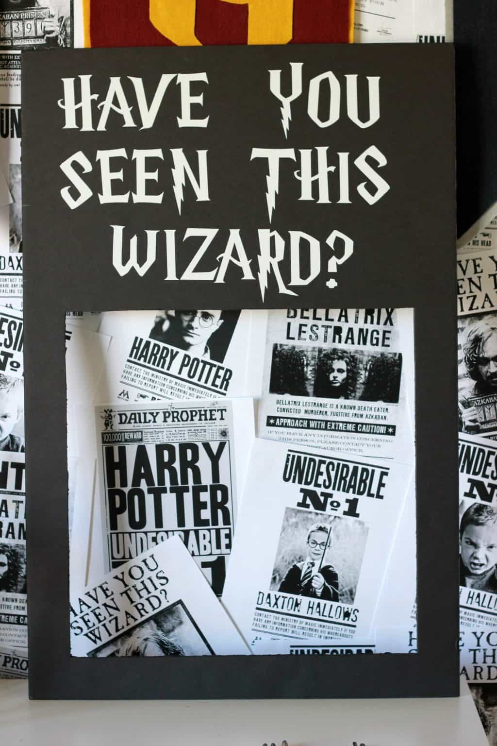 image about Harry Potter Have You Seen This Wizard Printable titled Do it yourself Harry Potter Photograph Booth - 1 Lovable Appee