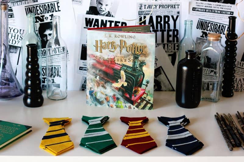 Harry Potter Felt Tie Party Favor