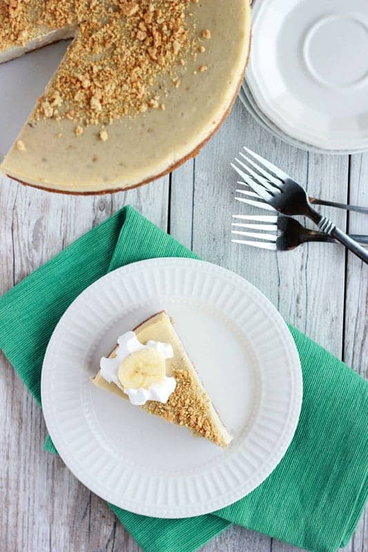 Banana Cream Cheesecake on One Sweet Appetite