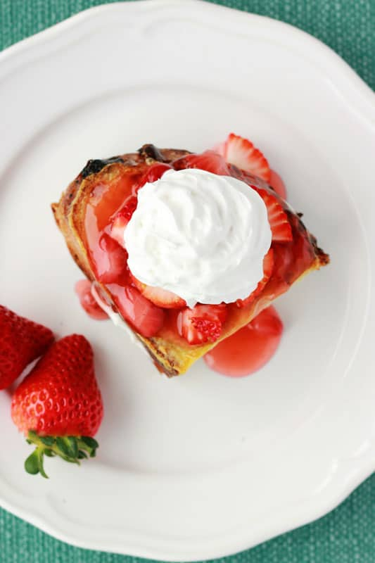 Strawberry Cheesecake French Toast on One Sweet Appetite
