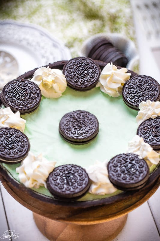 No Bake Chocolate Mint Oreo Pie WM