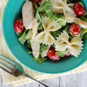Chicken Caesar Pasta Salad- Sun and Sizzle book Review