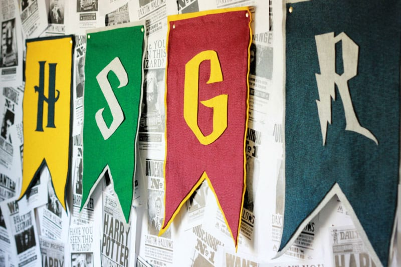 Hogwarts House Flags