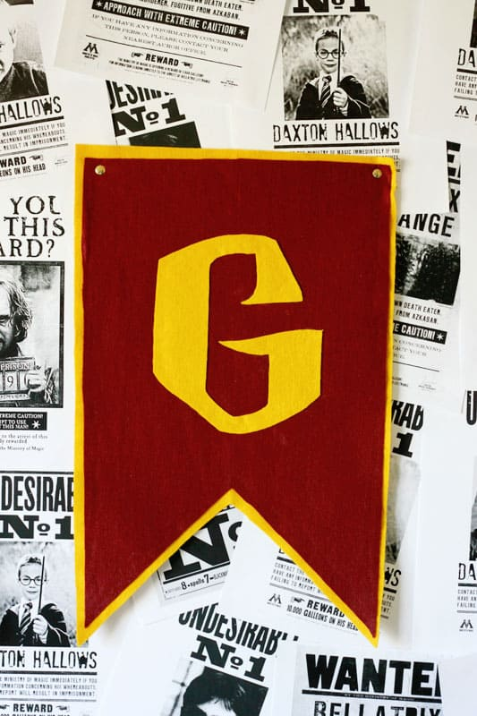 Gryffindor Felt Flag