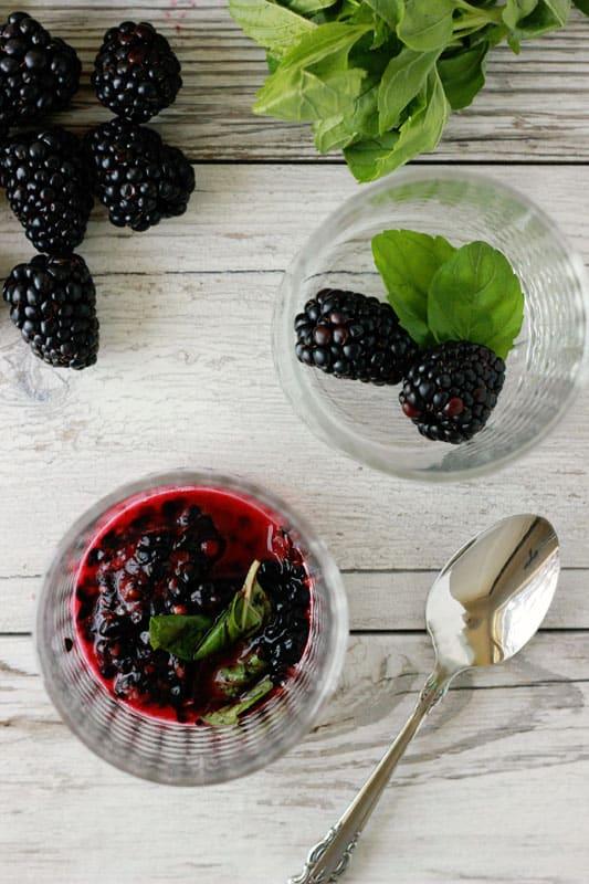Muddled Blackberries
