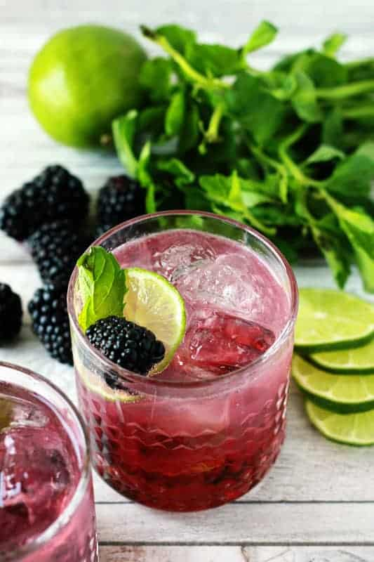 Blackberry Mojito on One Sweet Appetite