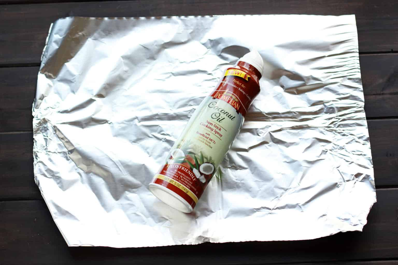 Folding a Tin Foil Dinner Step 2