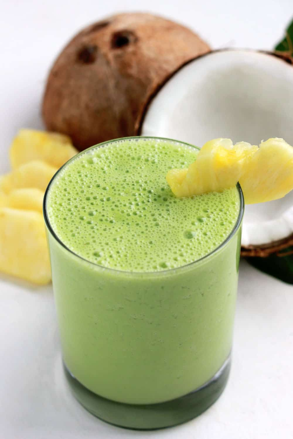 Coconut Pineapple Smoothie on One Sweet Appetite
