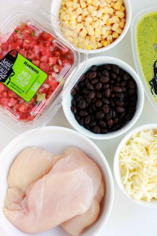 Southwestern Chicken Tin Foil Dinner Ingredients