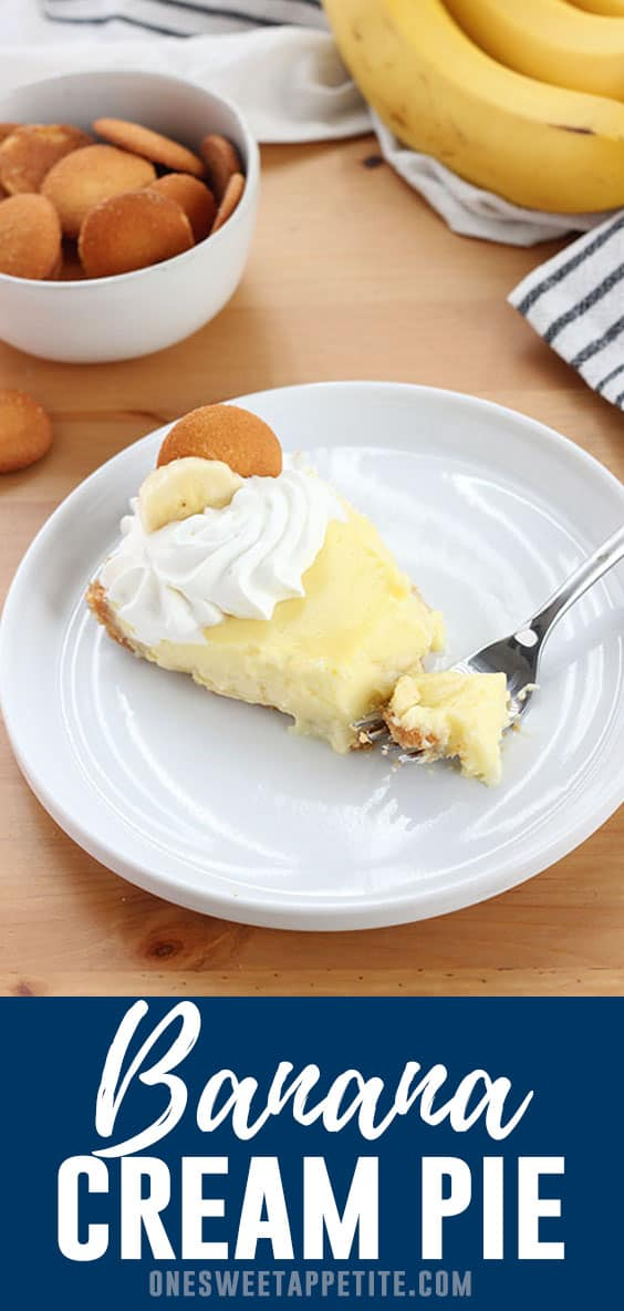 This easy Banana Cream Pie recipe uses a homemade vanilla pudding poured over ripe banana slices. Chilled and served with whipped cream, this is the ultimate pie recipe.