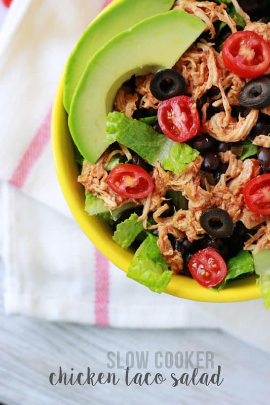 Slow Cooker Taco Chicken Salad