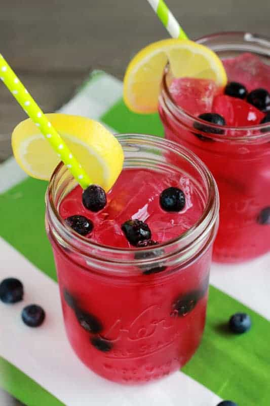 blueberry lemonade on One Sweet Appetite