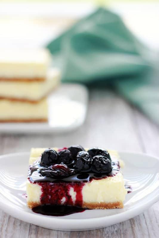 Cheesecake Bars on One Sweet Appetite
