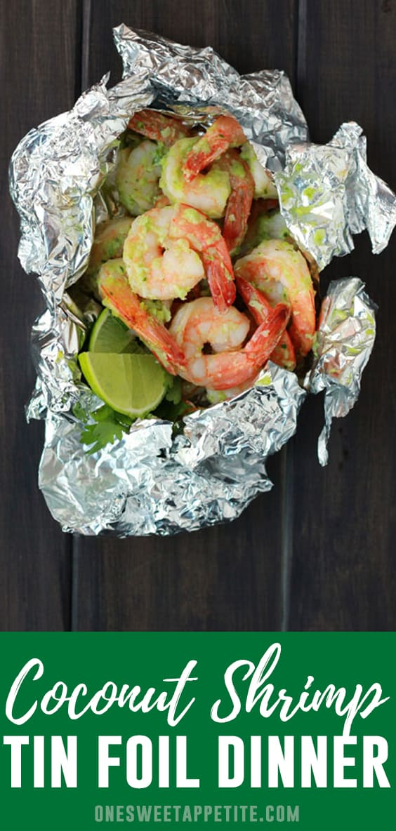 Spice up the traditional tin foil meal this camping/grilling season with this Spicy Coconut Shrimp! With only a handful of ingredients you get perfect grilled shrimp in minutes!