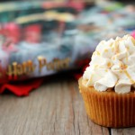 Butterbeer cupcake recipe on One Sweet Appetite