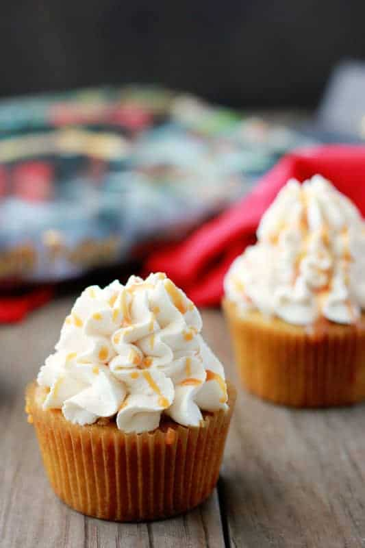 Butterbeer Cupcakes on One Sweet Appetite