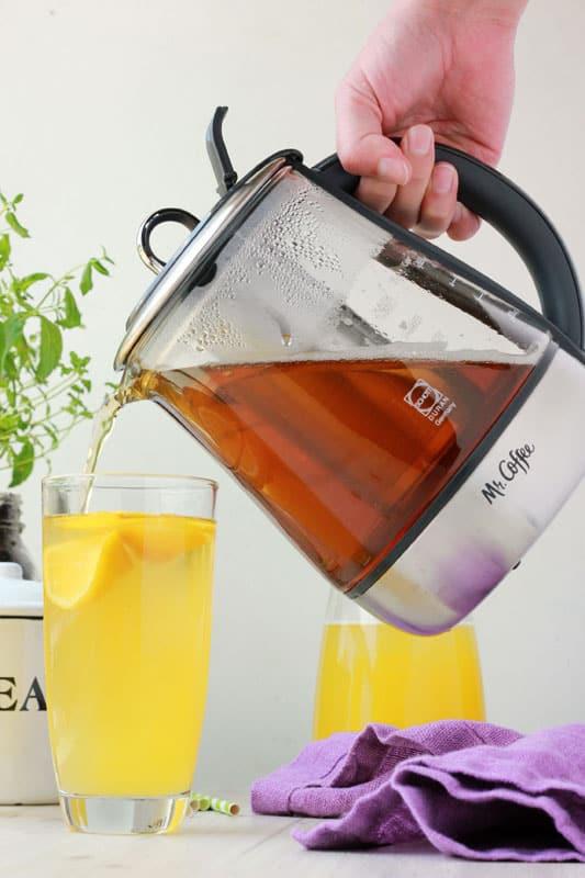 Mango Green Tea Lemonade with Mr Coffee