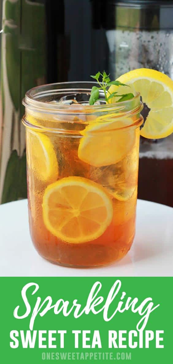 A refreshing taste of the south finished with a sparkle! This Sparkling Sweet Tea recipe is the perfect thirst quenching recipe for summer.