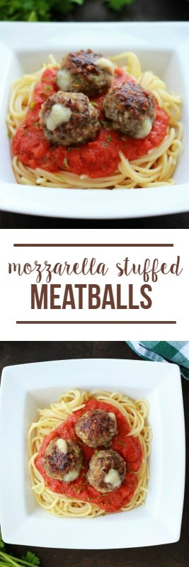 Stuffed Mozzarella Meatballs