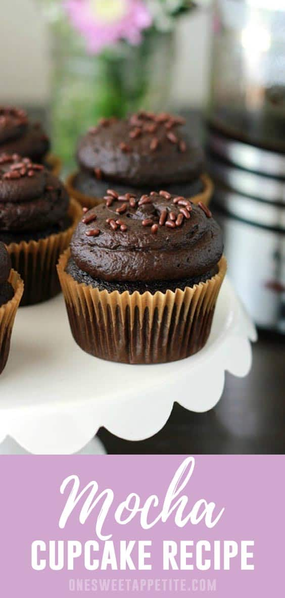 These easy Mocha Cupcakes are a coffee lovers dream! Espresso chocolate cake is filled with a mascarpone espresso filling and topped with a creamy coffee buttercream.