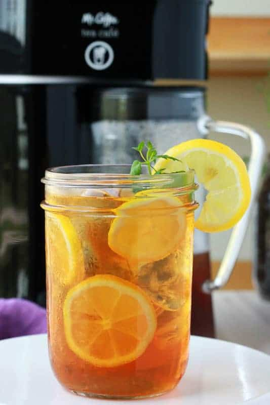 Sparkling Sweet Tea Recipe on One Sweet Appetite