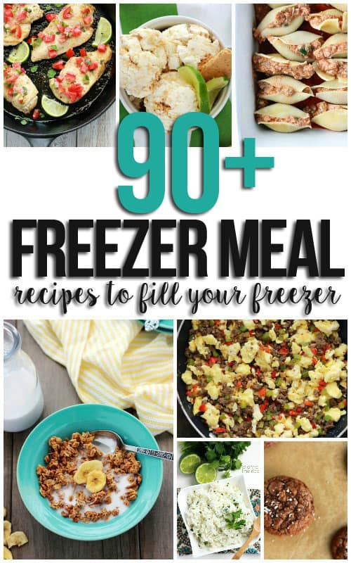 90+ Freezer meal Recipes