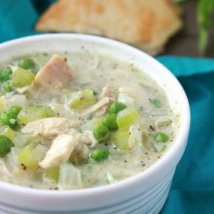 Chicken Pot Pie Soup on One Sweet Appetite