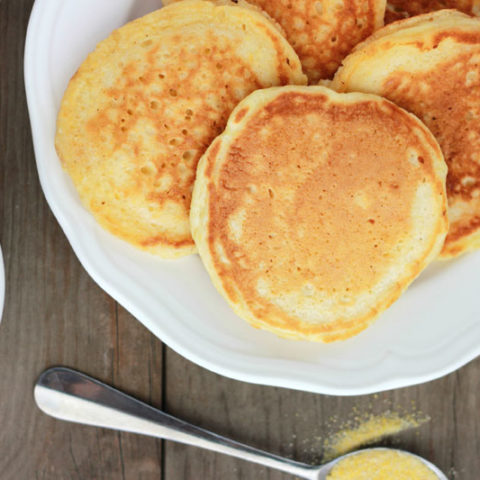 Cornmeal Pancakes on One Sweet Appetite