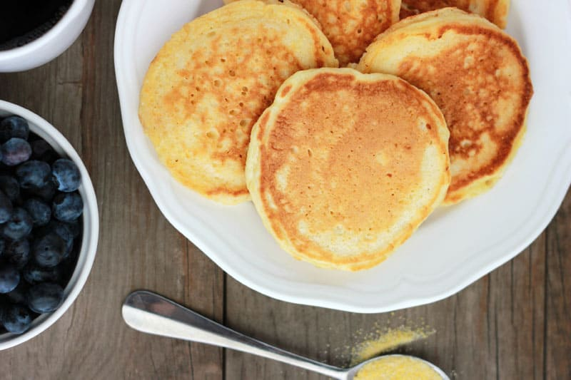 Cornmeal Pancakes on One Sweet Appetite