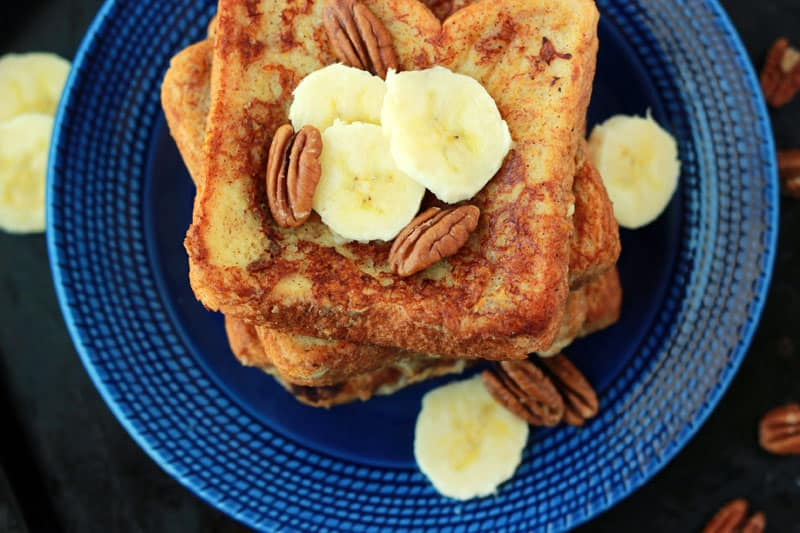 Banana French Toast on One Sweet Appetite