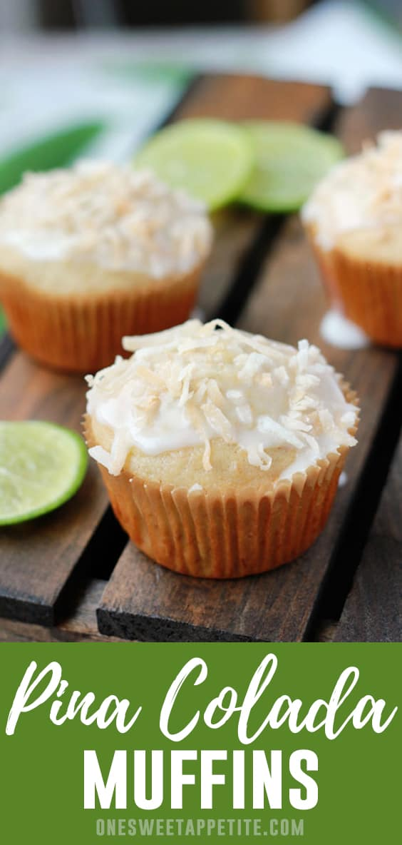 These Pina Colada Muffins are loaded with fresh coconut and crushed pineapple for a delicious start to your day! Simple to make with minimal ingredients.