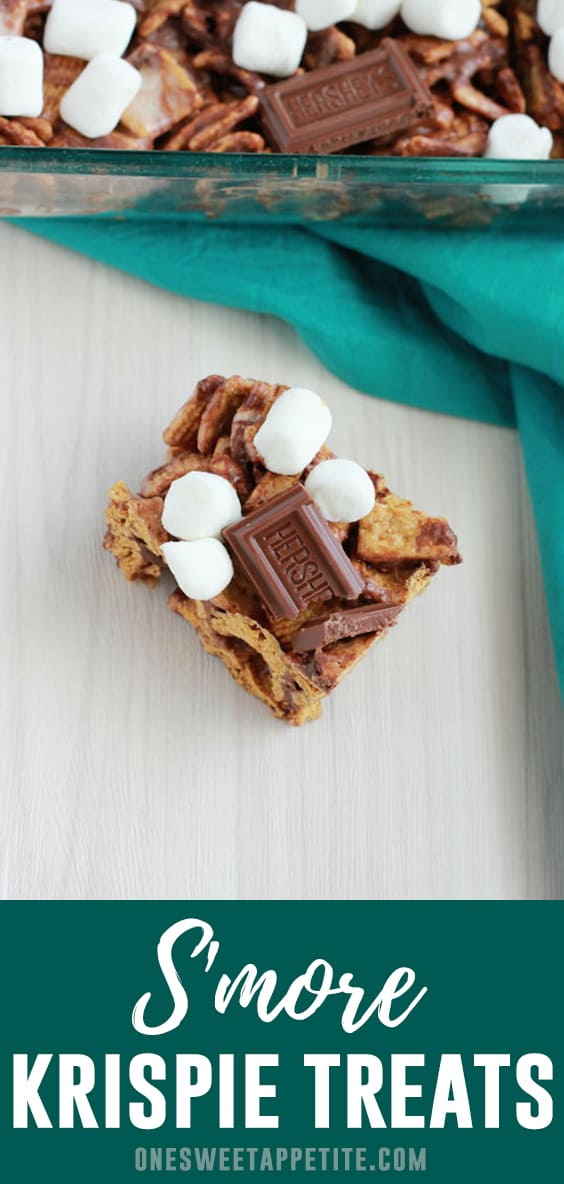 This easy dessert recipe for S'more Cereal Treats is the best no-bake dessert! Only 4 ingredients and ready in under 20 minutes!