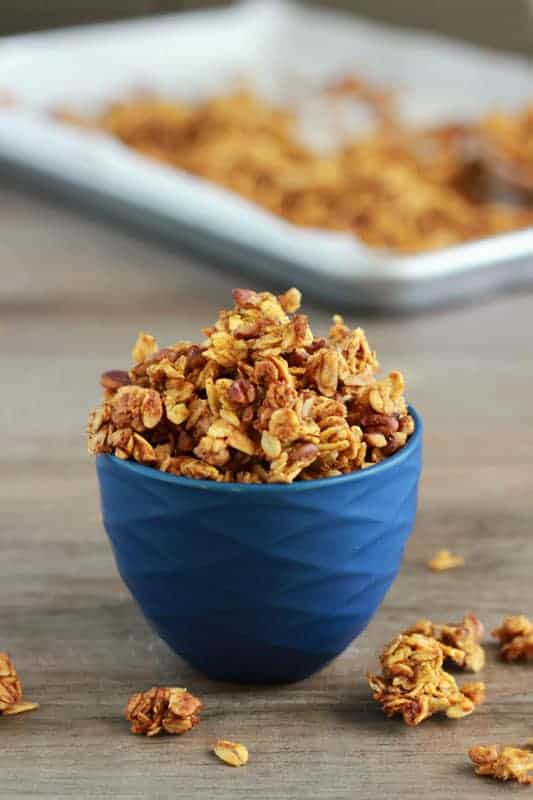 Pumpkin Pie Granola on One Sweet Appetite