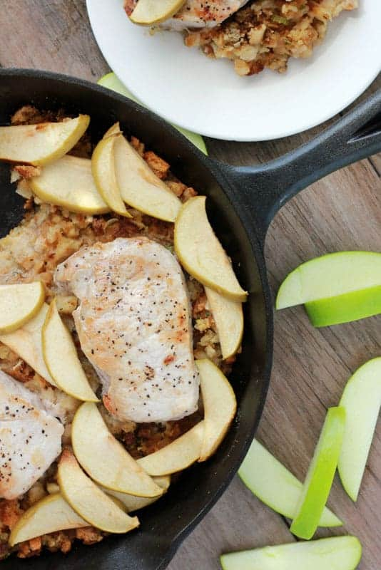 Apple Baked Pork Chop Recipe on One Sweet Appetite