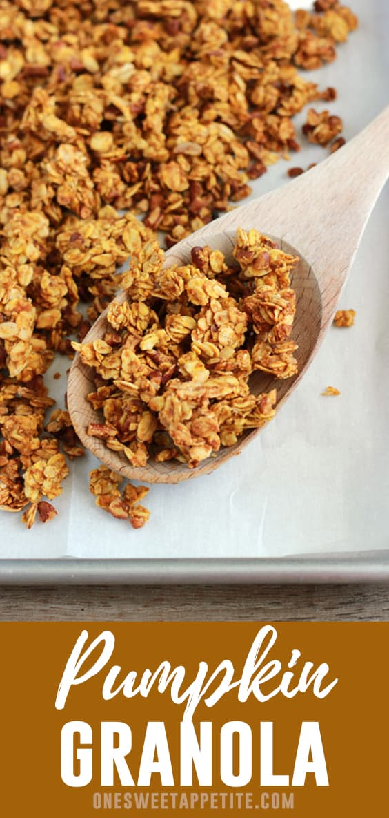 This Pumpkin Pie Granola recipe is packed with the classic fall flavor and has easily become a favorite. It is packed with real pumpkin flavor and a delicious way to snack!