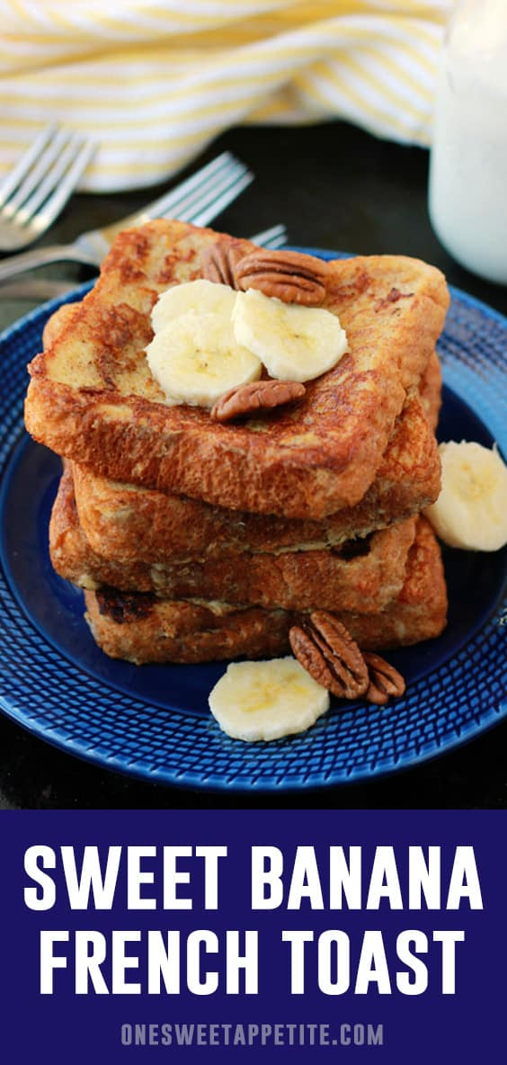 Banana Bread French Toast. Thick sliced bread is dipped in a mixture of overripe bananas, eggs, heavy cream, cinnamon, and vanilla for the perfect breakfast recipe.