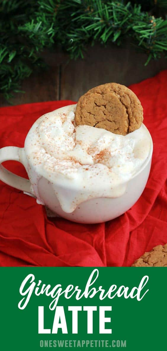 Gingerbread Latte. Start your morning with this holiday inspired latte. Filled with cinnamon, cloves, and vanilla this is the perfect latte recipe.