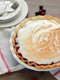 Cranberry Meringue Pie Recipe