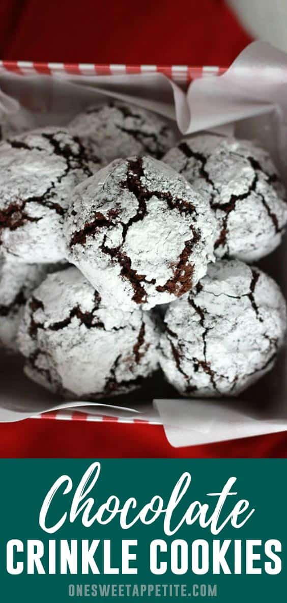 Chocolate Crinkle Cookies. This fun cookie recipe is the perfect addition to your cookie trays! A chocolate cookie base is rolled in powdered sugar and baked for crinkle perfection.